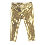 Lame Legging, Gold Metallic Pink Chicken