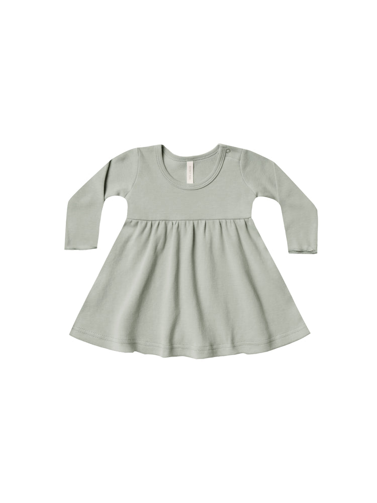 Long Sleeve Baby Dress, Sage