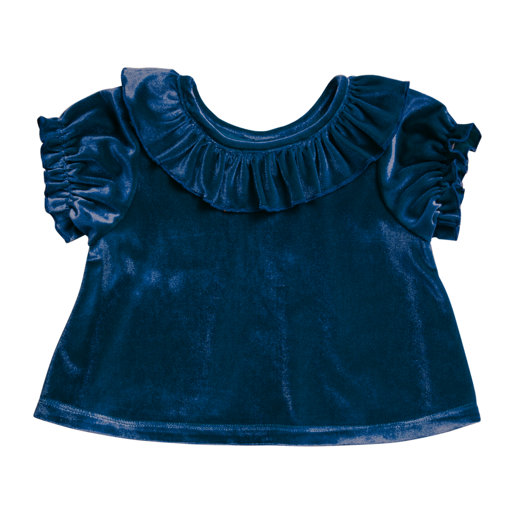 Mara Top, Blue Velour