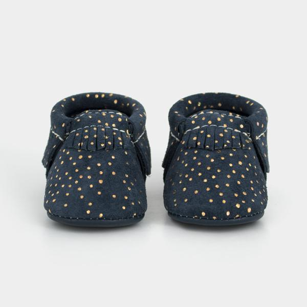 Moccasins, Navy Confetti