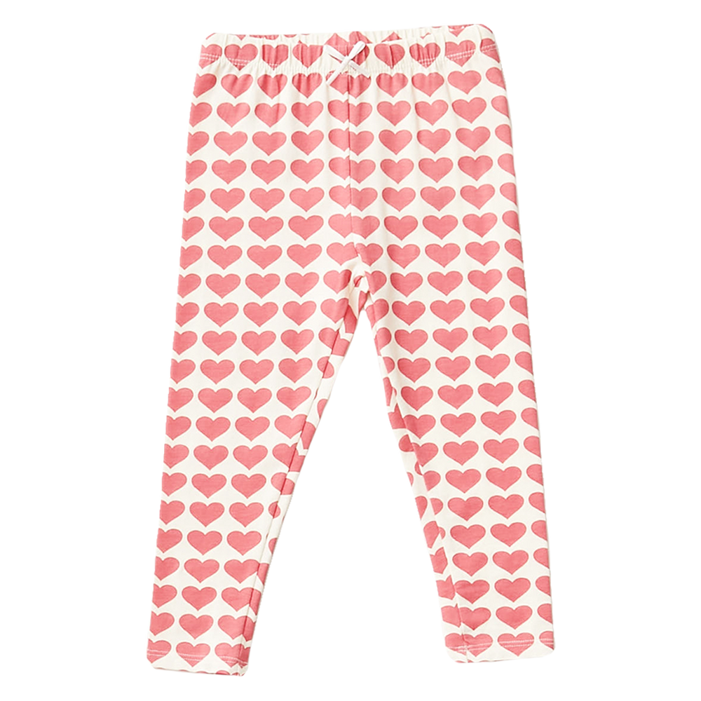 Organic Cotton Legging, Rapture Rose Hearts