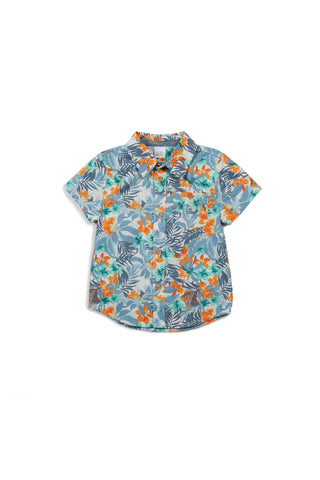 Adrian Short Sleeve Button Down - Palm