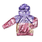 Metallic Cruz Jacket, Pink