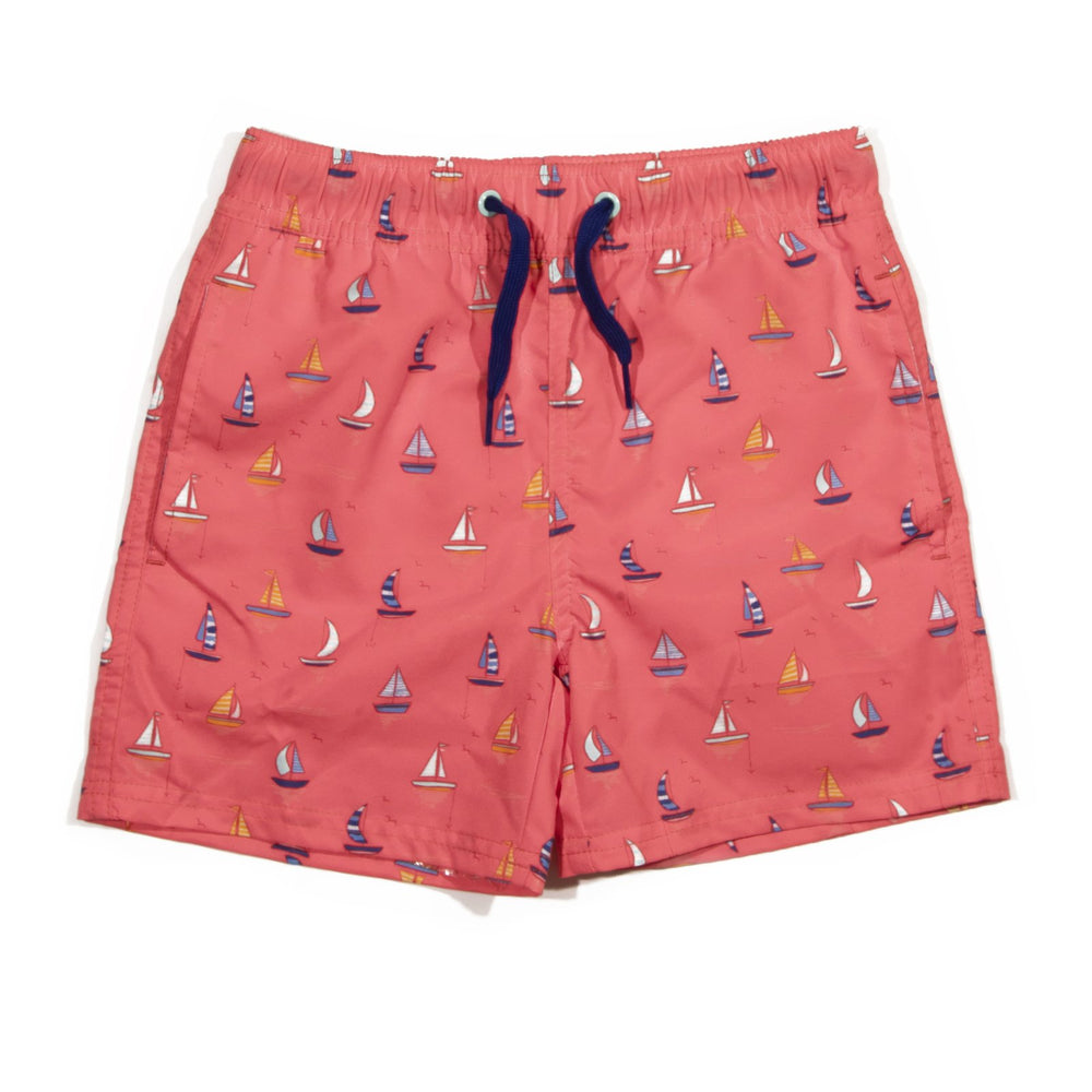 Coral Sailboat Tristan Trunks