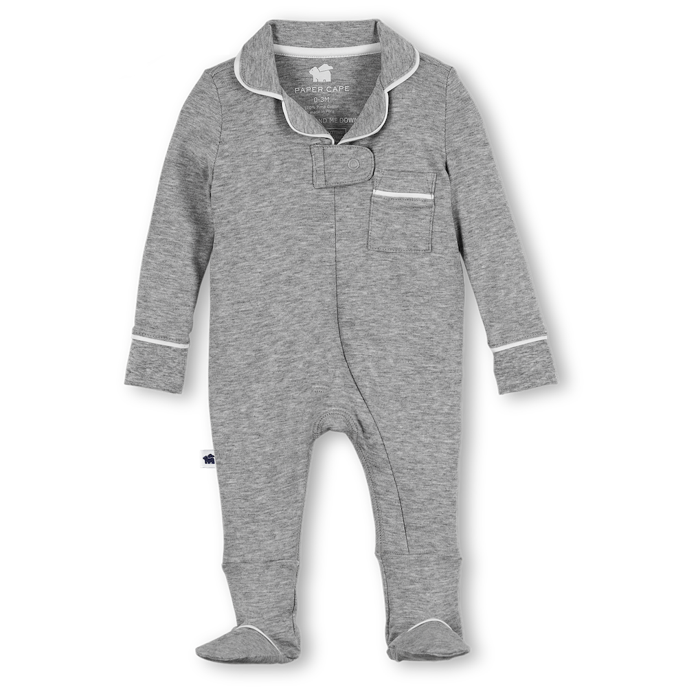 Pajama Footie 2.0, Heather Grey