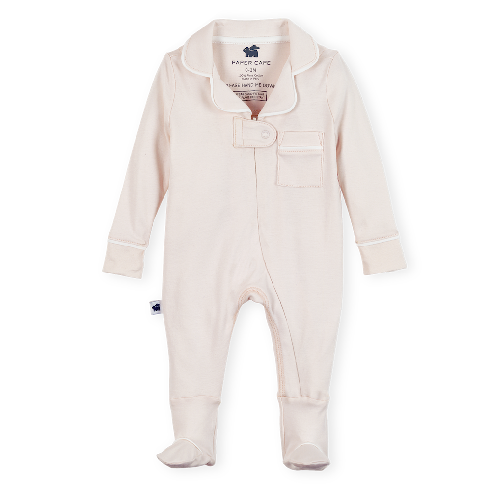 Pajama Footie 2.0, Light Pink