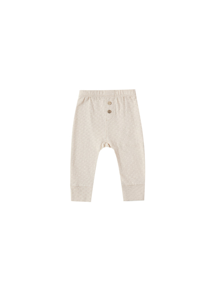 Pointelle Pajama Pant, Natural
