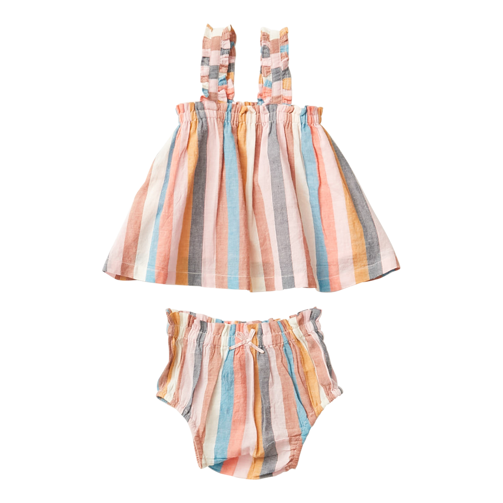 Pink Chicken Emma 2-Piece Set, Multi Stripe 21SPCB469A