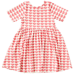 Organic Steph Dress, Rapture Rose Hearts