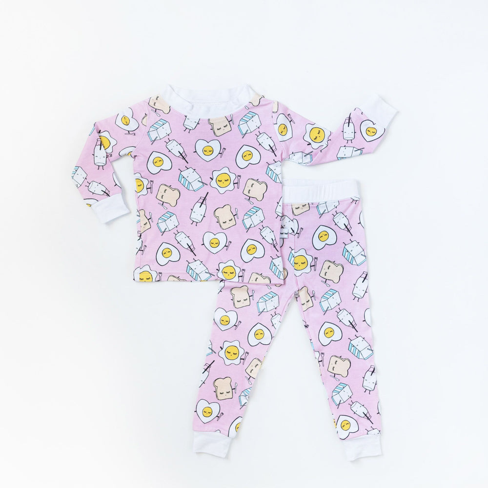 Pink Breakfast Buddies Two-Piece Bamboo Pajama Set