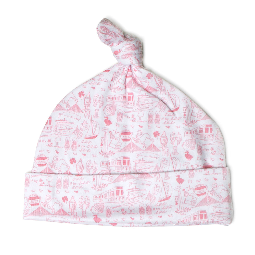 Boston Baby Hat, Strawberry Ice Cream Pink