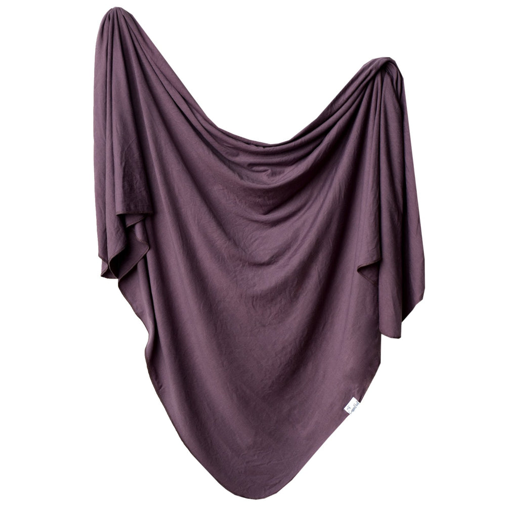 Plum Knit Swaddle Blanket Copper Pearl