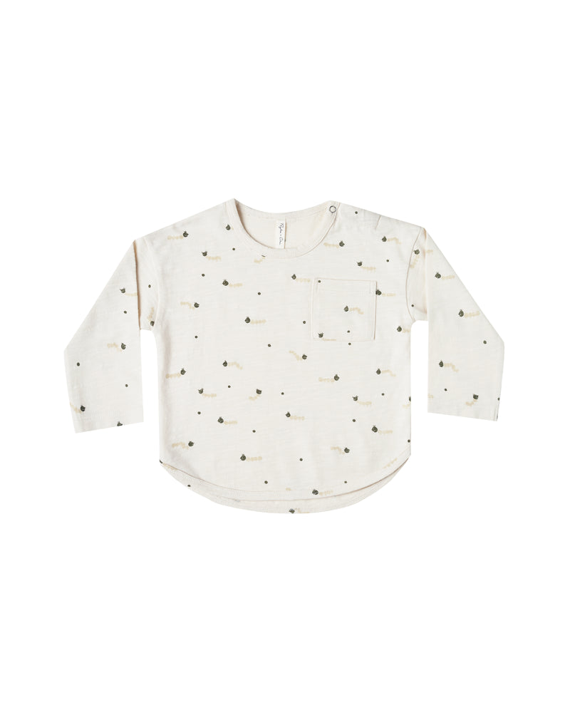 Caterpillars Long Sleeve Tee, Ivory