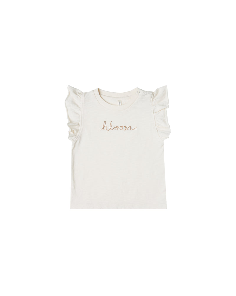 Bloom Ruffle Tank, Ivory