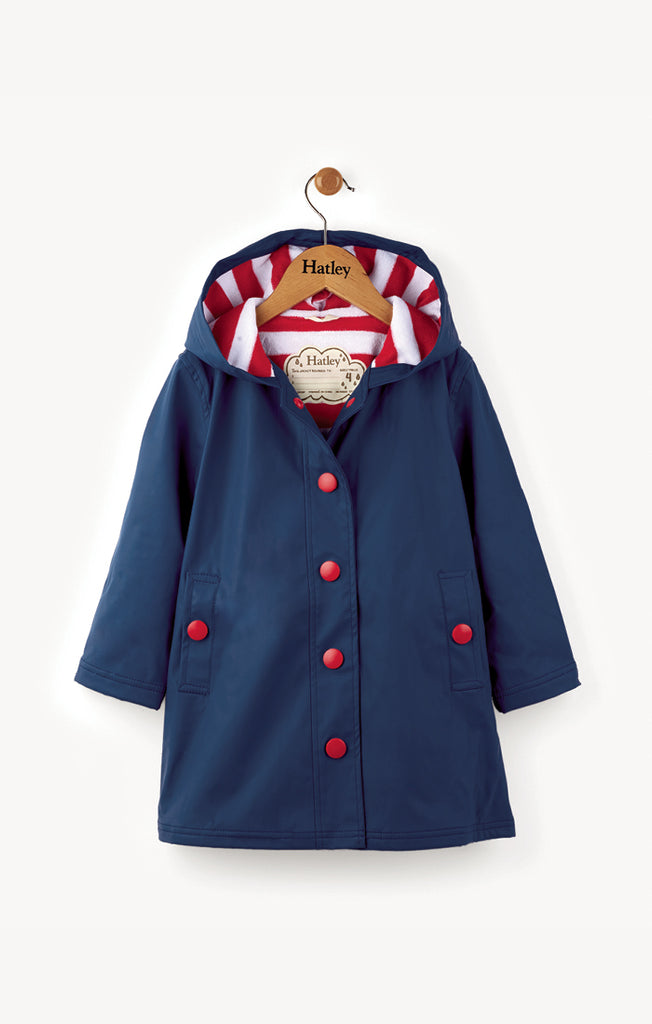 Navy with Red Stripe Splash Jacket
