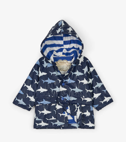 Colour Changing Shark Frenzy Baby Raincoat