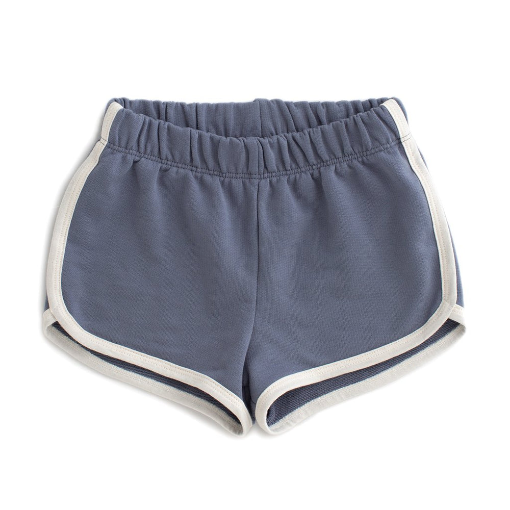 French Terry Shorts, Solid Slate Blue