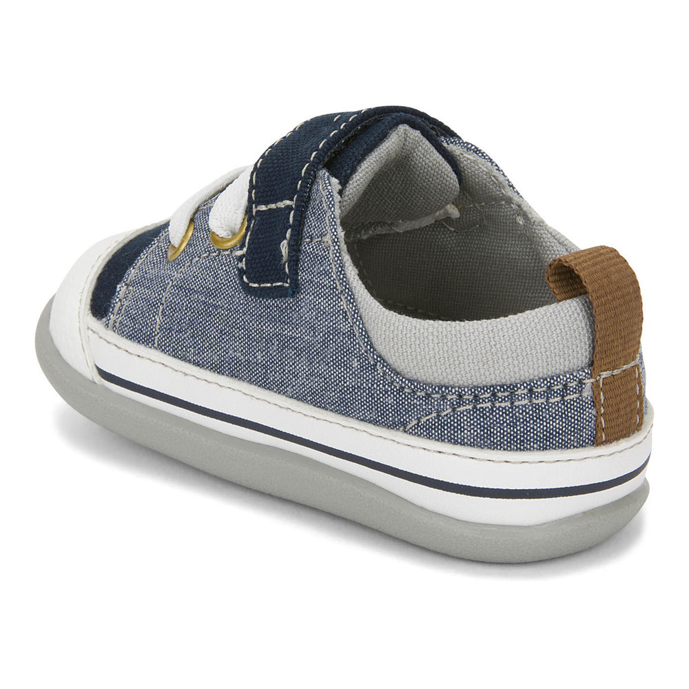 Stevie II First Walkers, Blue Denim