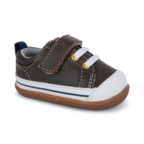 Stevie II First Walkers, Brown Leather