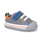 Stevie II First Walkers, Gray/Blue