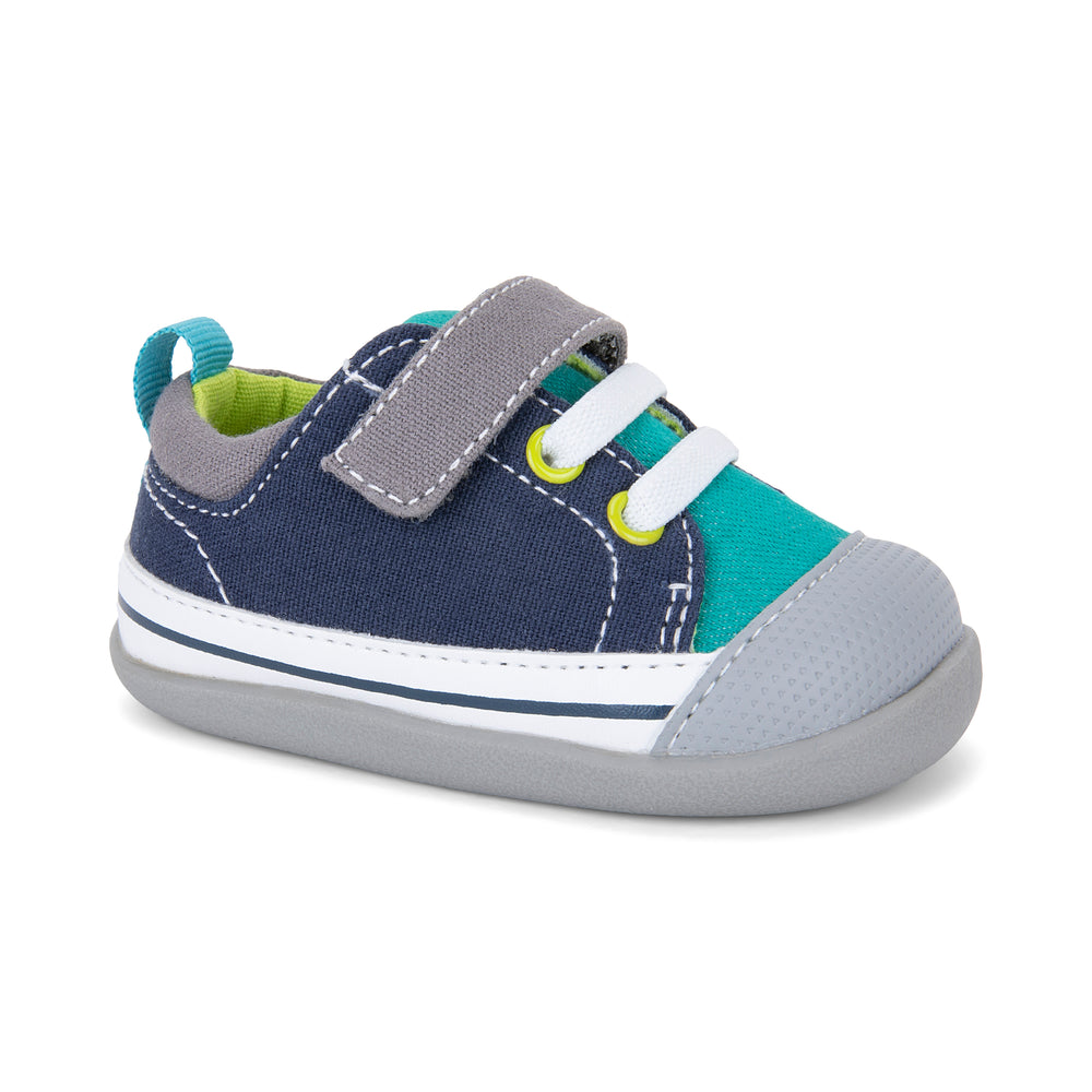 Stevie II First Walkers, Teal/Navy