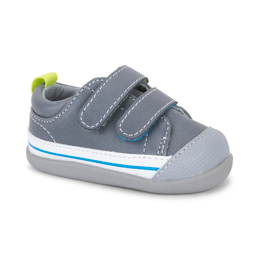 Waylon First Walkers, Gray Leather