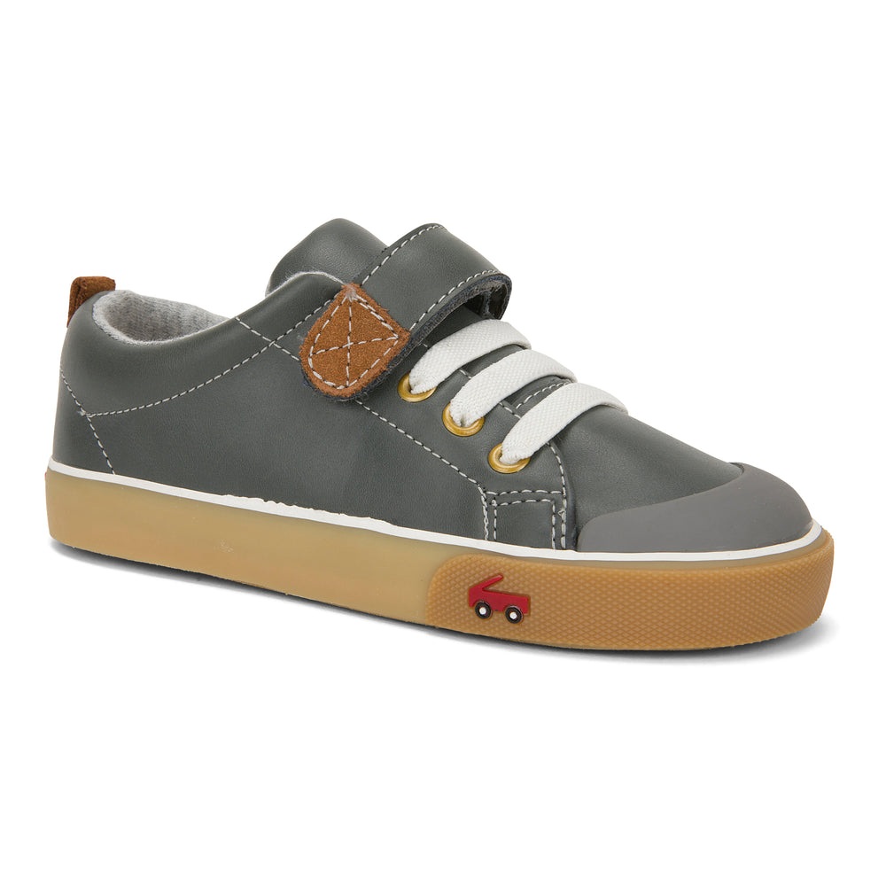 Stevie II Sneakers, Gray Leather