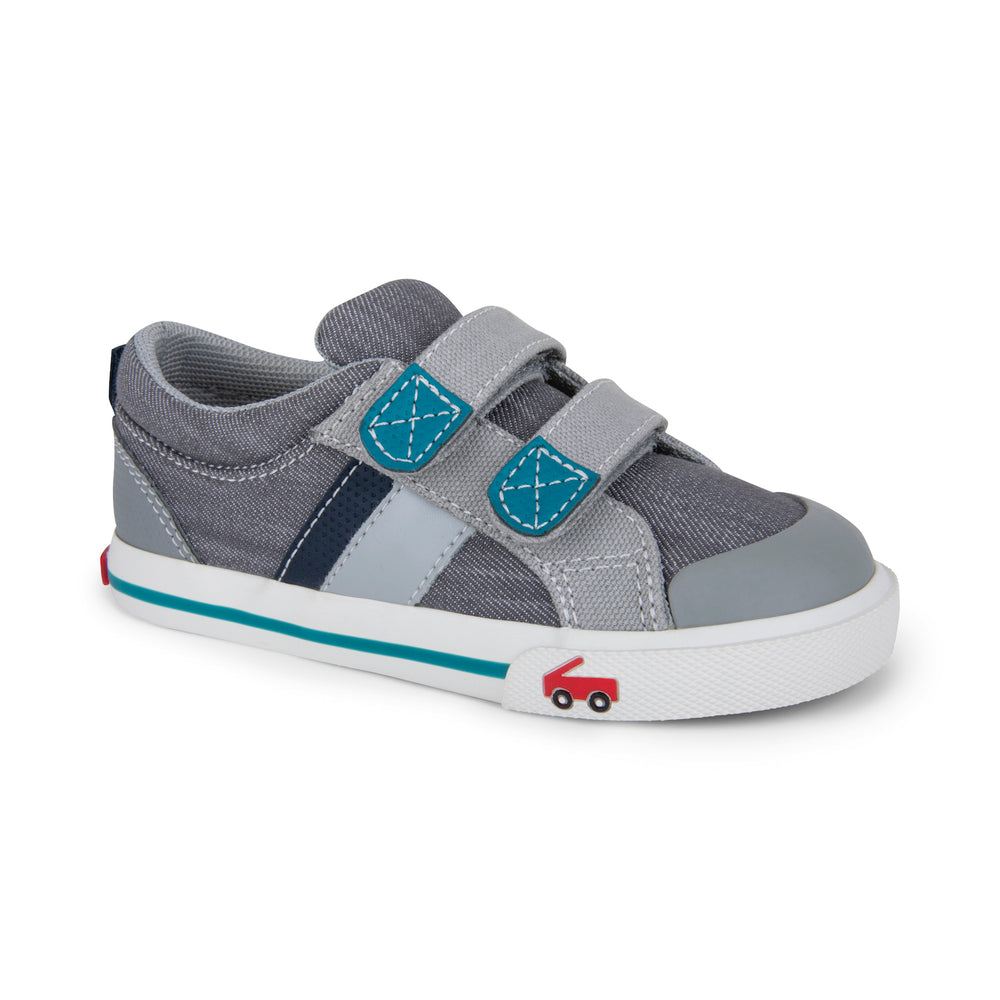 Russell Toddler Sneaker, Gray/Teal