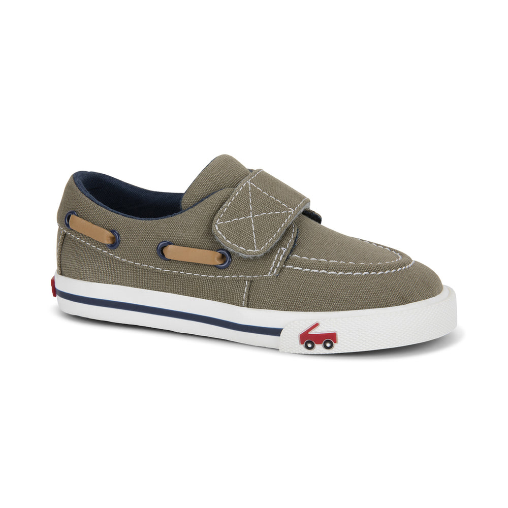 Elias Khaki/Navy Boat Shoes