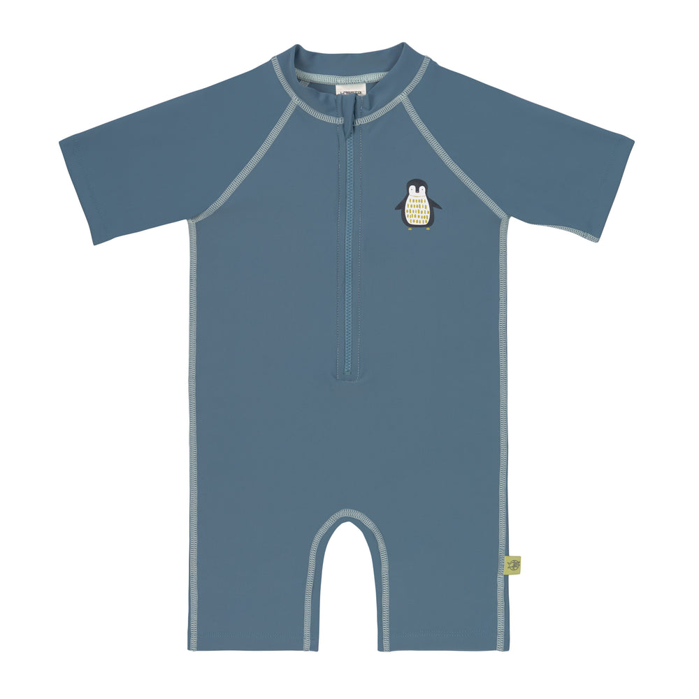 Short Sleeve Sunsuit, Penguin Niagara