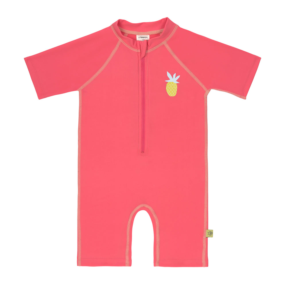 Short Sleeve Sunsuit, Pineapple