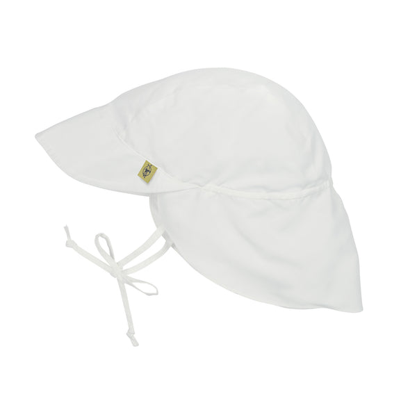 Sun Protection Flap Hat, White