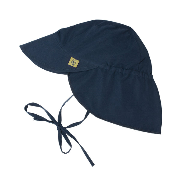 Sun Protection Flap Hat, Navy