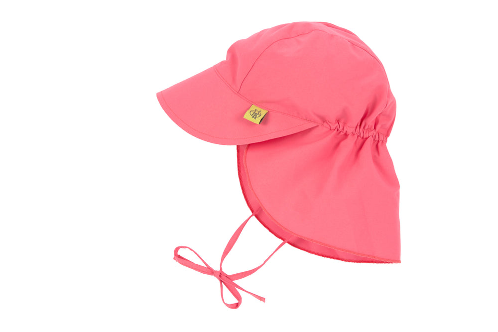 Sun Protection Flap Hat, Sugar Coral