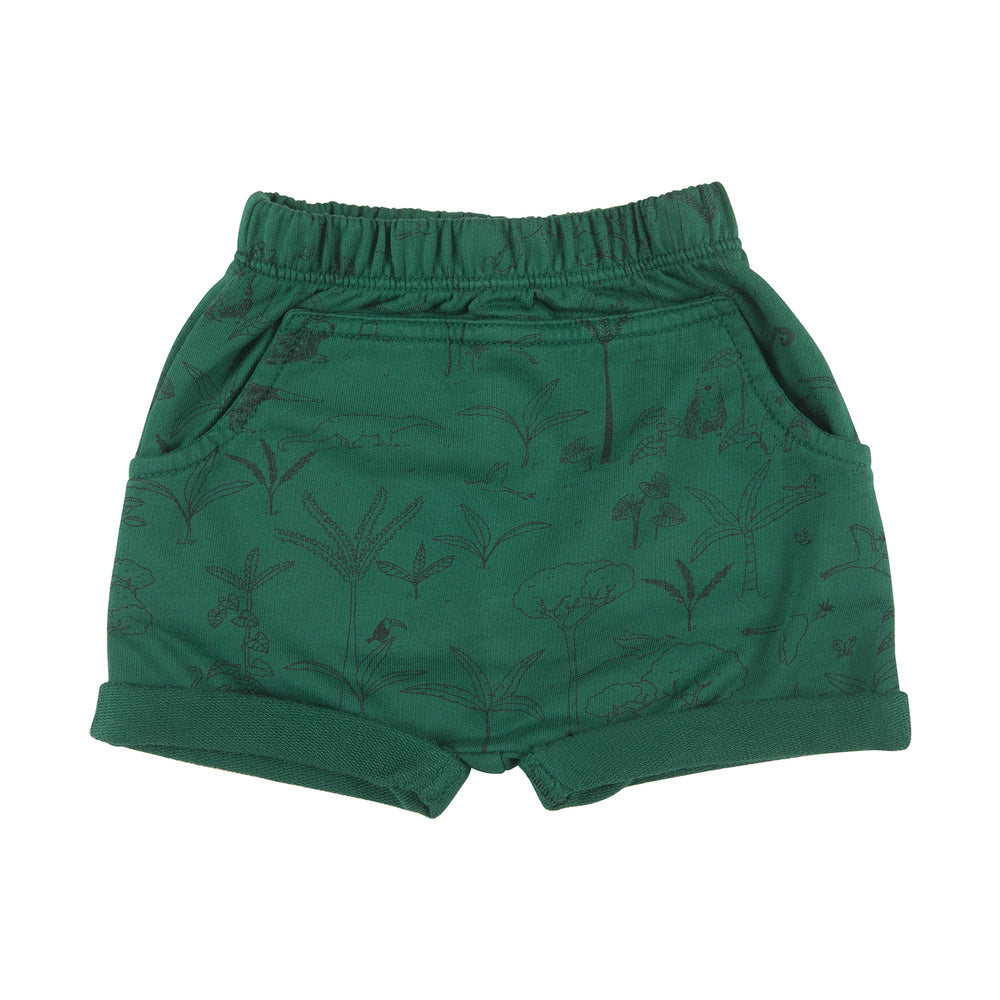 Shorts, The Story in Antique Green Red Caribou