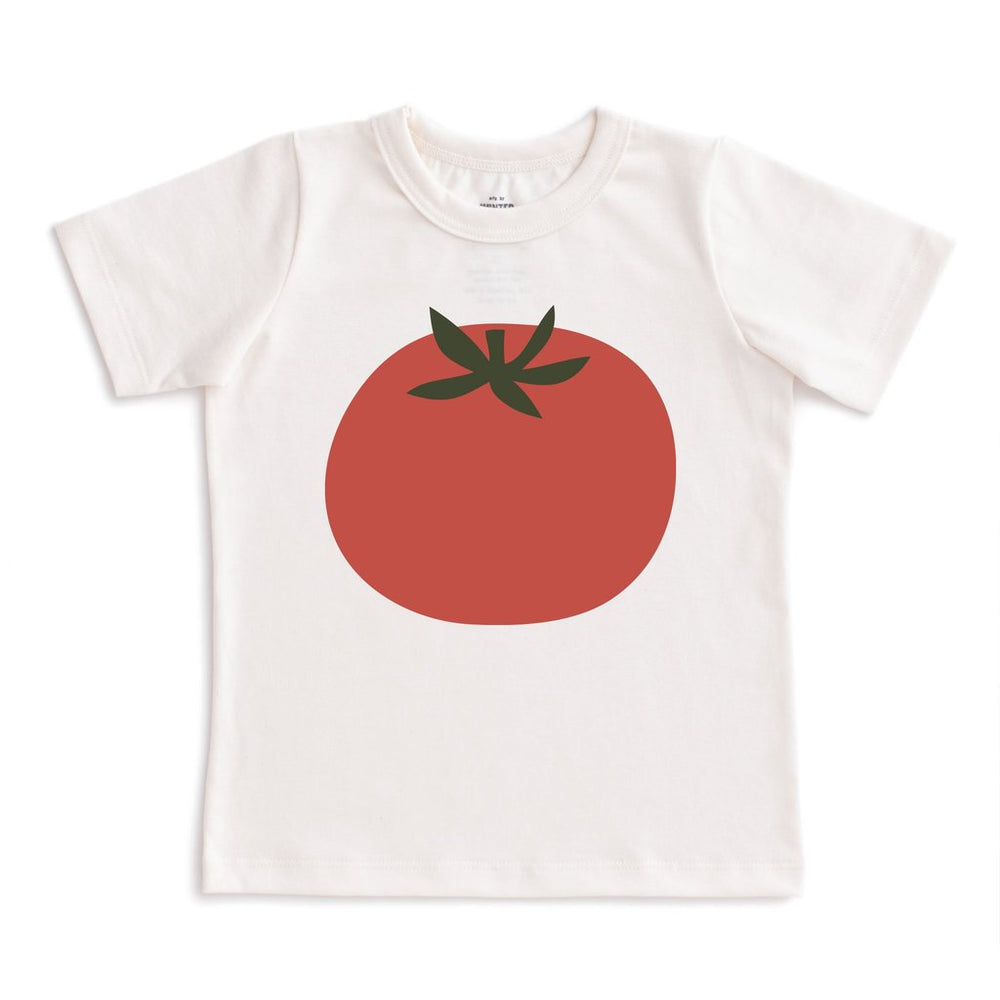 Short Sleeve Tee, Tomato on Natural