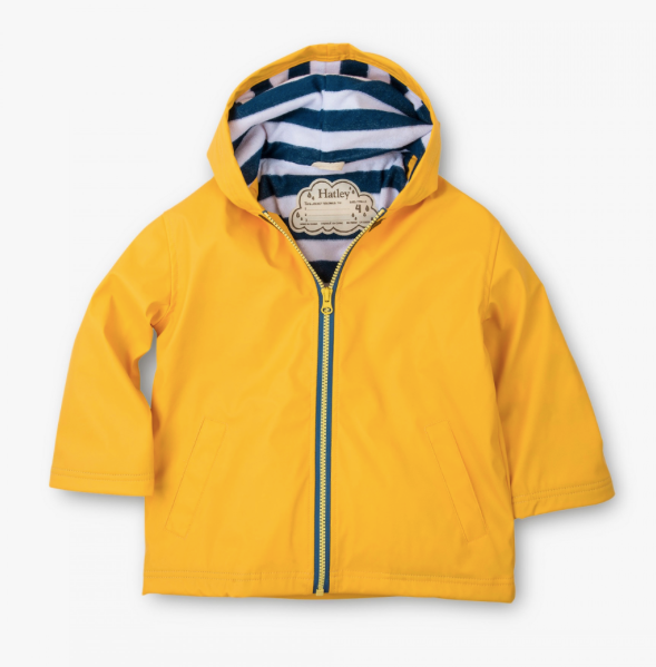 Yellow & Navy Toddler Splash Jacket