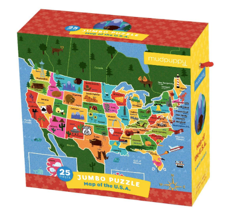 Map of the USA Jumbo Puzzle