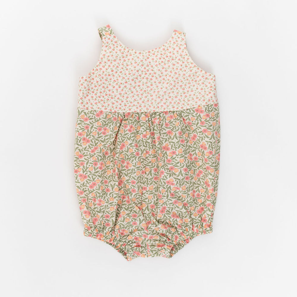 Knotted Romper in Primrose