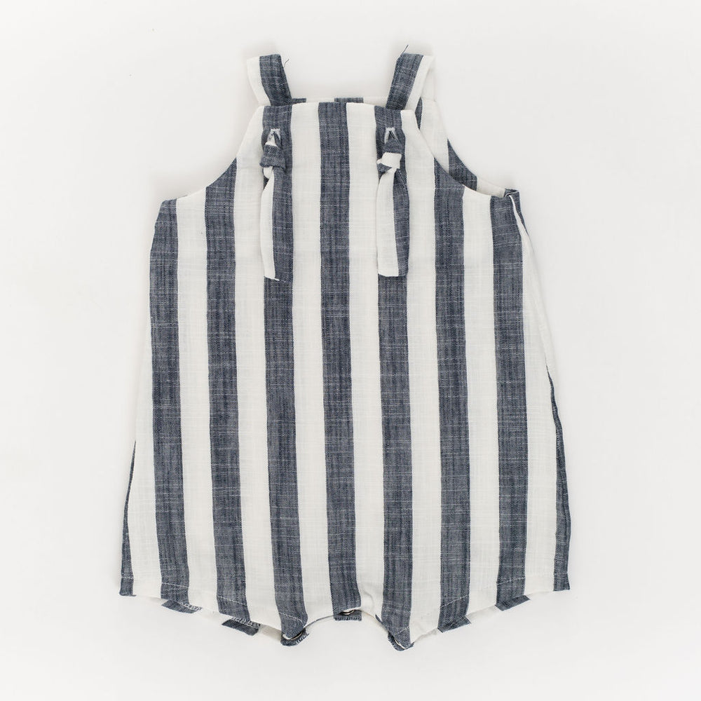 Knotted Shortall in Midnight Stripe