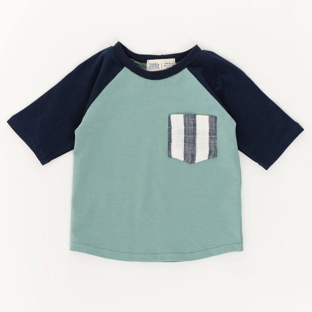 Raglan Pocket Tee in Pond