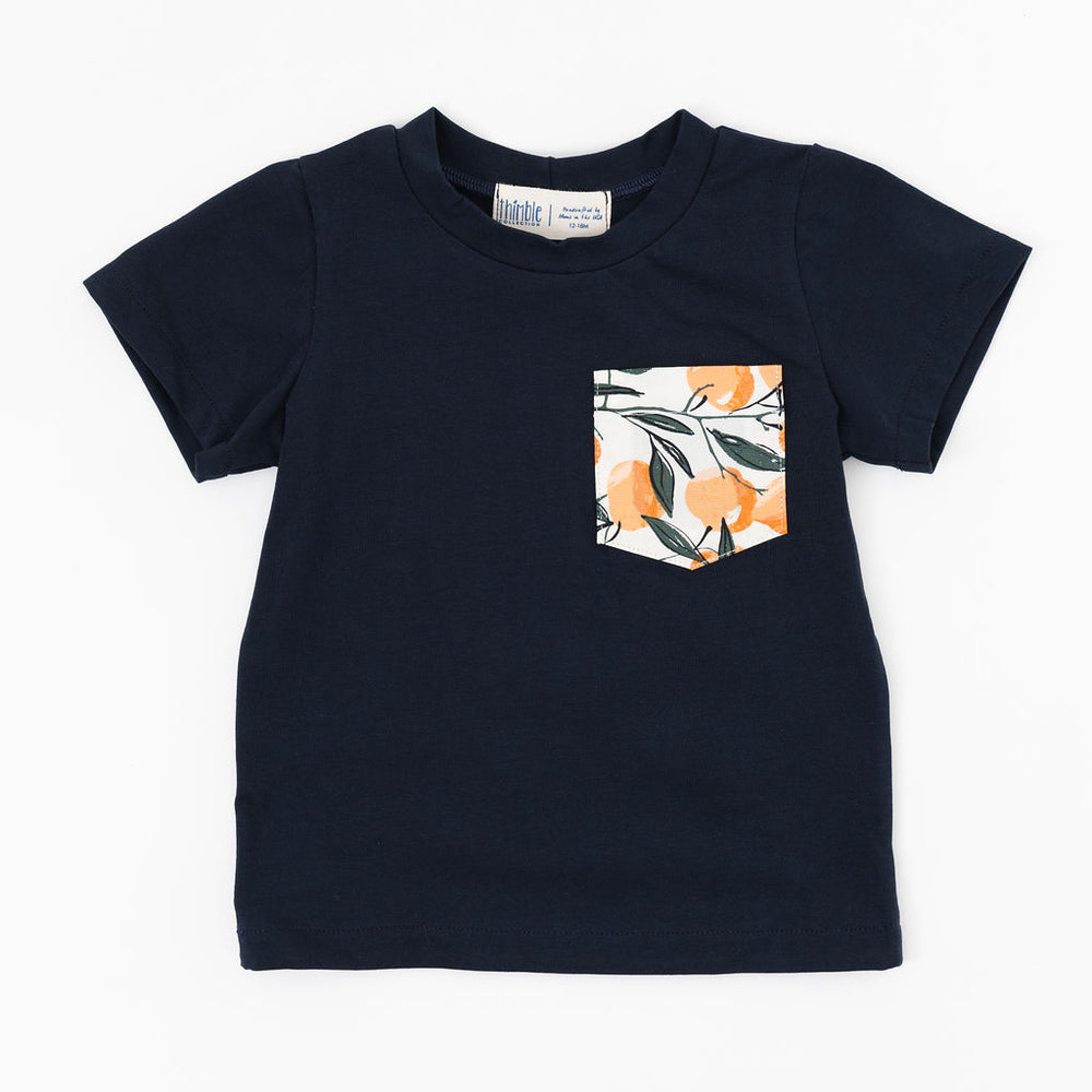 Pocket Tee in Clementine