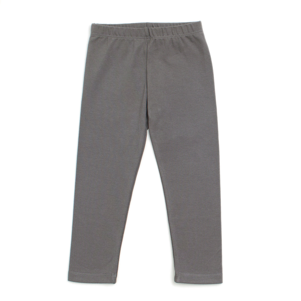 Baby Leggings, Solid Charcoal