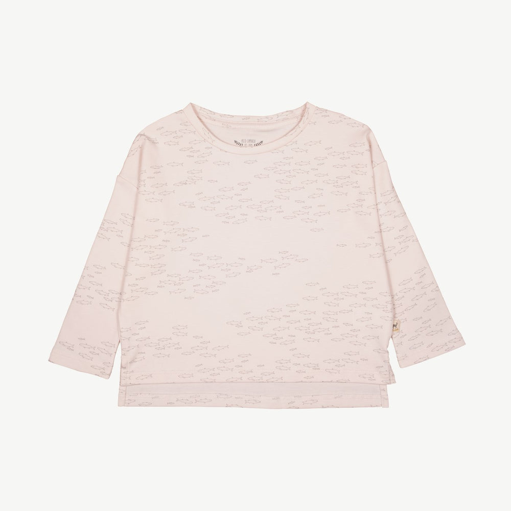 Schooling Fish Oversized T-Shirt, Heavenly Pink