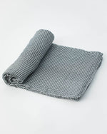 Cotton Muslin Swaddle, Navy Micro Gingham