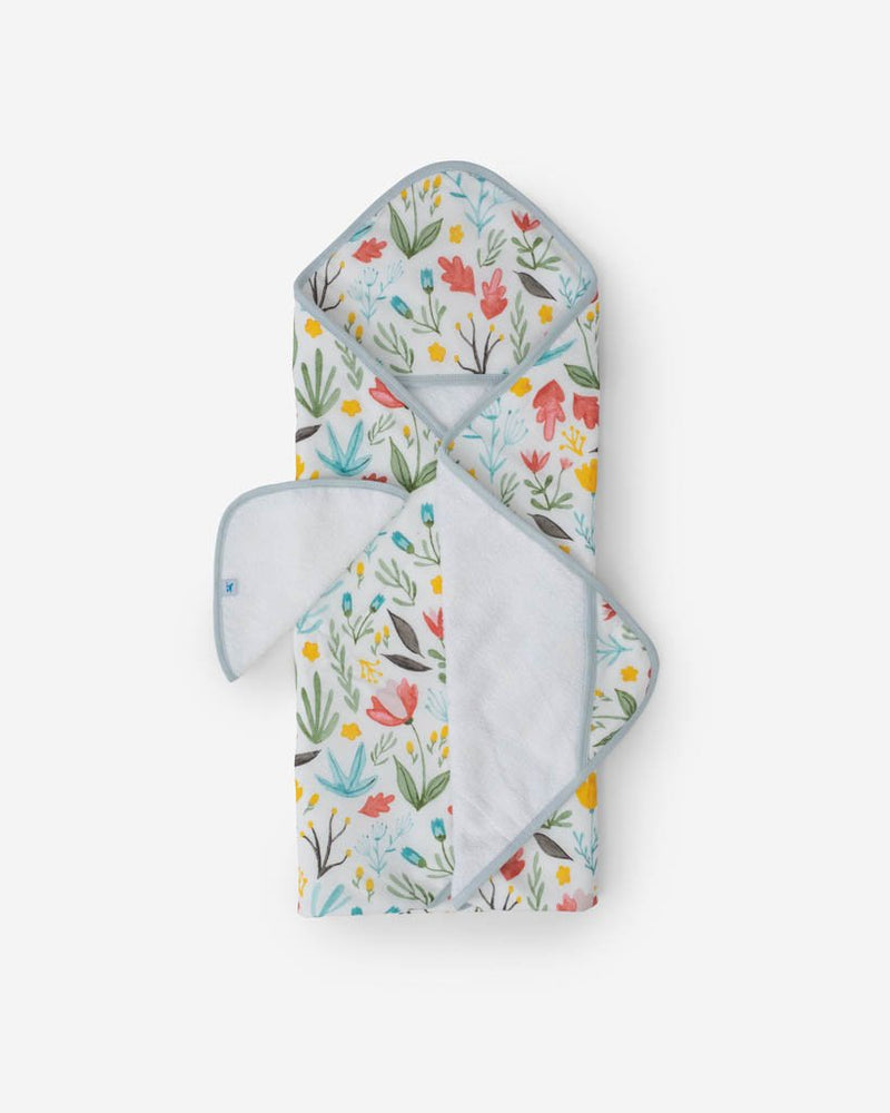 Cotton Hooded Towel & Wash Cloth Set, Meadow