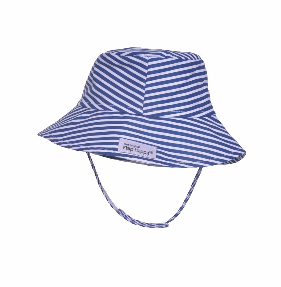 UPF 50+ Bucket Hat | Navy Preppy Stripe