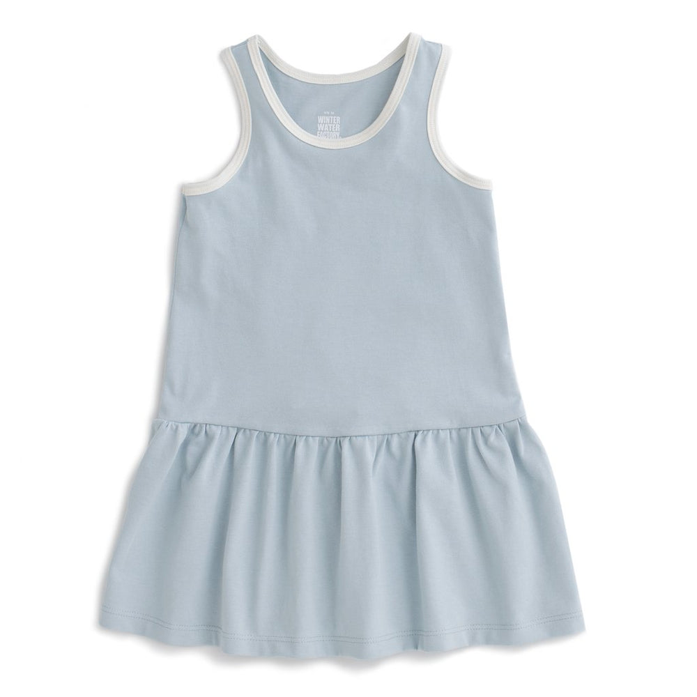 Valencia Dress, Solid Pale Blue