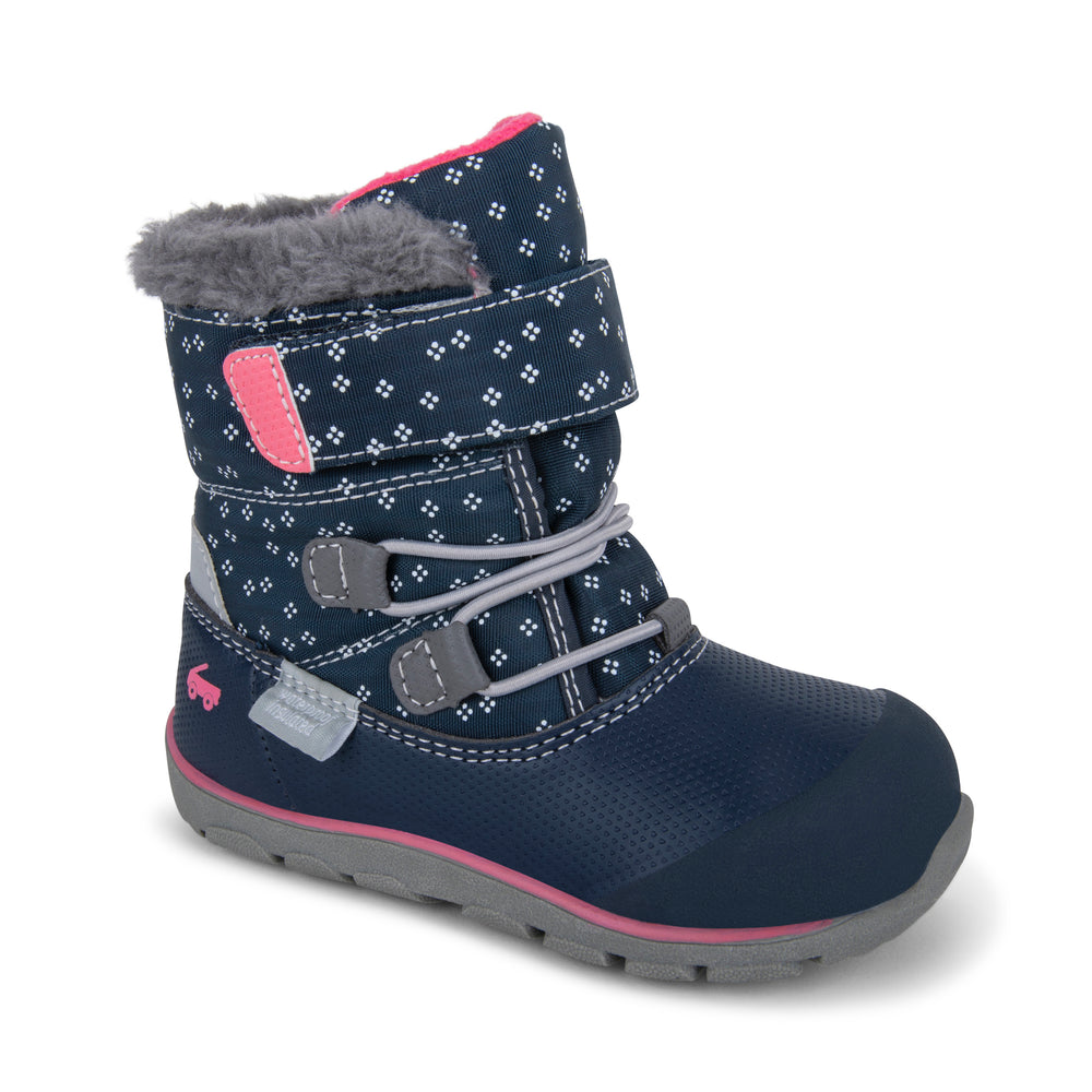 Gilman Waterproof/Insulated Boot, Navy/Pink