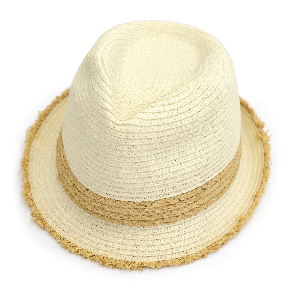 Beach Vibes Fedora, Natural